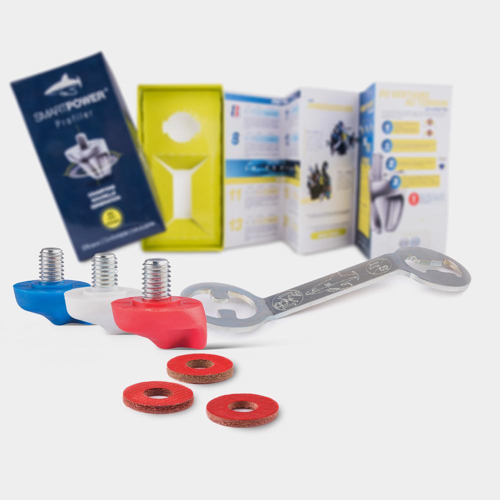 crampon-8mm-plastique-à-visser-nouvelle-génération-bleu-blanc-rouge